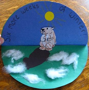 Almost Unschoolers groundhog day craft paper craft