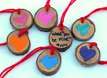 eclectic chica wood slice valentines - Valentine Card Ideas For Kids