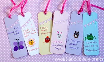 Sweet And Lovely Crafts valentine cards bookmarks