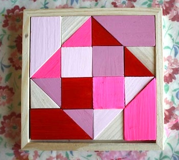 Scrumdilly Do valentine craft tangrams