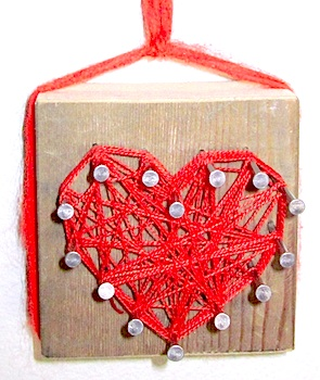 Mama's Little Muse valentine project string art heart