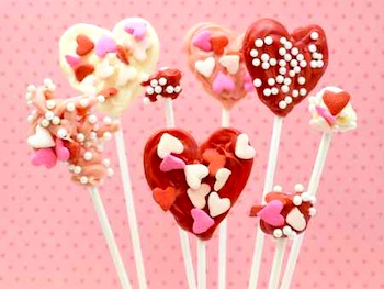 Red Tricycle candy heart pops