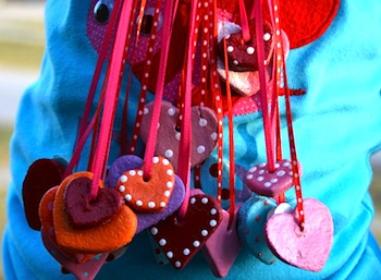 Amazing Mae salt dough heart pendants