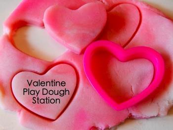 TinkerLab valentine day playdough