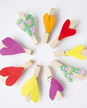 Pysselbolaget heart clothespins