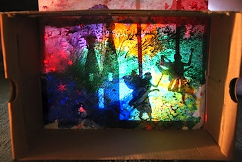 Inspiration Surrounds Creativity Abounds wax resist shadow box backgrounds