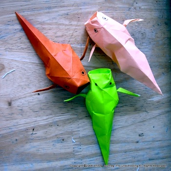 Wall Of Rainbow Koi · How To Fold An Origami Fish · Papercraft on ... | 350x350