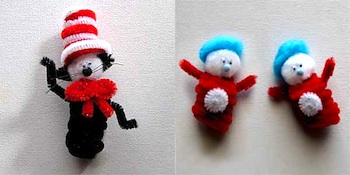 Craft Jr. cat in the hat finger puppets