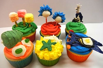 Sugar Swings dr. seuss cupcakes