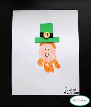 Meet The Dubiens handprint leprechaun