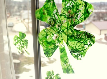 Hands On As We Grow shamrock suncatcher