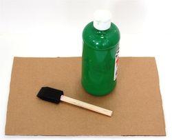 The Crafty Crow q-tip marble run paint cardboard green