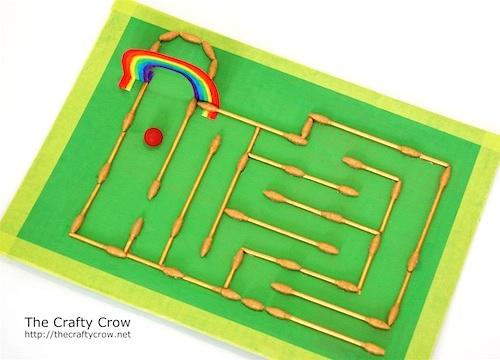 Q Tips Craft Rainbow Marble Maze on Abc Countdown Calendars