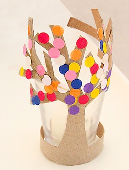 Creative Jewish Mom toilet paper roll craft spring tree