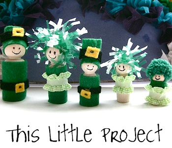 This Little Project st. patrick's day leprechaun peg dolls