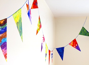 Artful Adventures children's art bunting