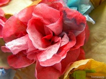 Carolyn's Homework paper napkin flowers