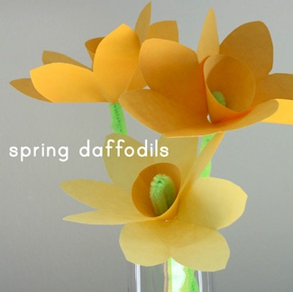 Spring flowers things to make and do crafts and activities for the long thread paper daffodils mightylinksfo Choice Image