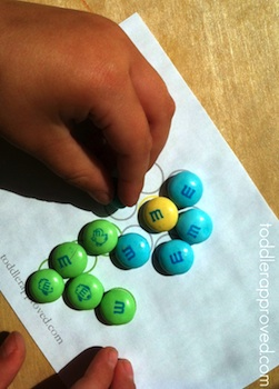 Toddler Approved! flower patterns for m & m's