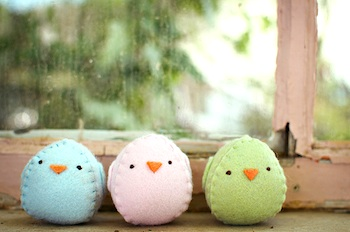Petite Purls felt chick stuffies