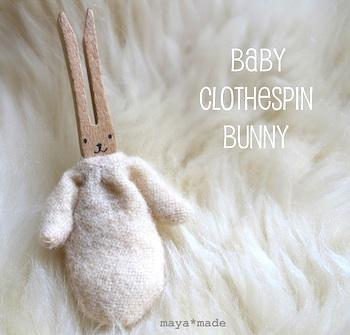 Maya*Made clothespin bunny