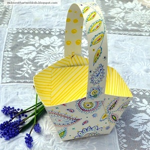 Art With Kids paper basket printable to doodle