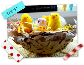 The Child's Paper spring nest craft