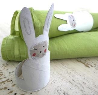 El Hada De Papel tp tube bunny napkin ring