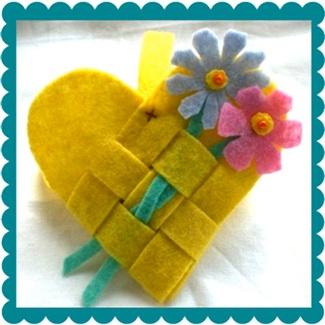 Pompom Emporium woven felt basket