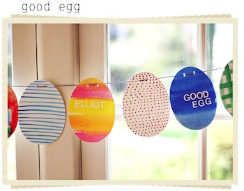 Two Straight Lines good egg garland