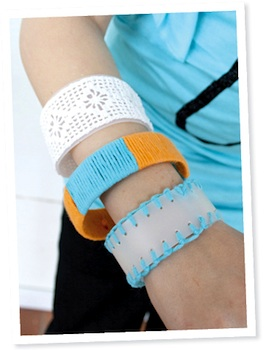 Pysselbolaget recycled plastic bracelet