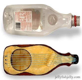 Jellyfish Jelly plastic bottle guitar