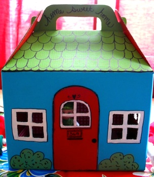 The Child's Paper cardboard box storybook cottage
