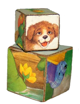 Joyride With Miral cardboard box picture blocks