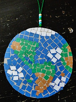 Make And Takes earth mosaic