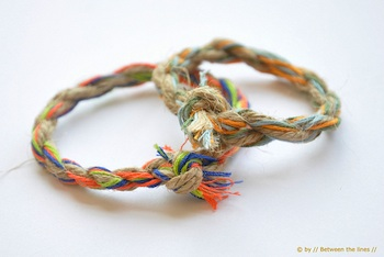 Between The Lines twisted bracelet