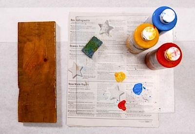 ALFK fingertip painting on wood 1