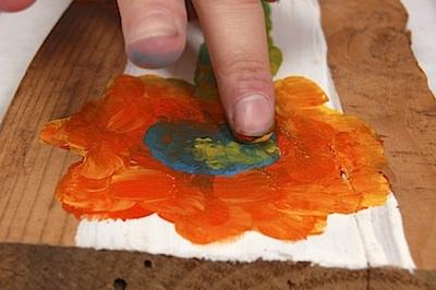 ALFK fingertip painting on wood 5