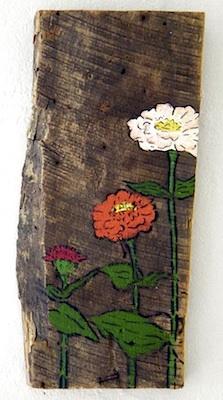 ALFK fingertip painting on wood 7