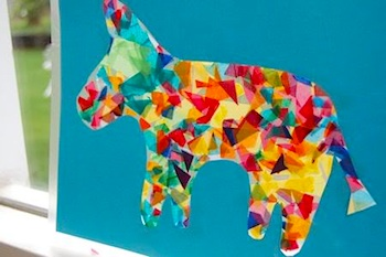 Frugal Family Fun pinata suncatcher