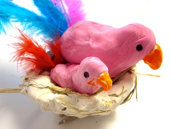 Art Is Basic birds and nest craft
