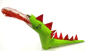 Pinta La Lluna dragon from recycling