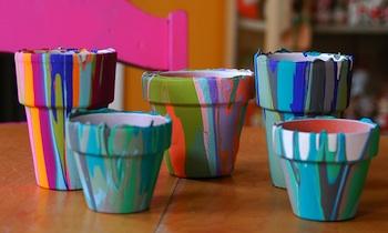 My Paper Crane pour paint pots