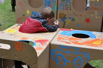 Play And Grow cardboard box playground 1