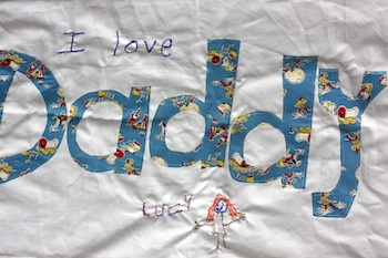 Baby By The Sea father's day homemade gift pillowcase