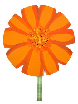 The Crafty Crow flower fan orange
