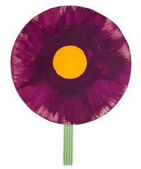 The Crafty Crow flower fan purple