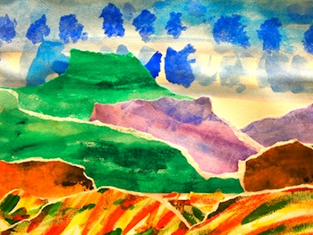 New City Arts 2nd grade watercolor landscapes
