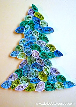 A Bit Of This And A Bit Of That quilled christmas tree
