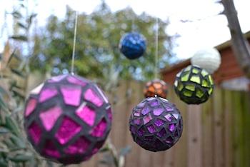 Glittering Shards mosaic ornament